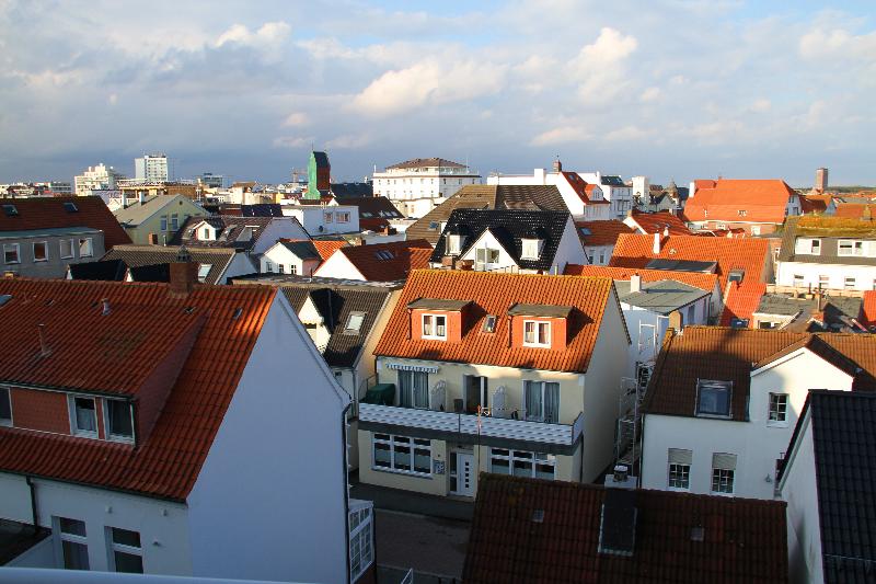 Blick auf die Nachbarhäuser