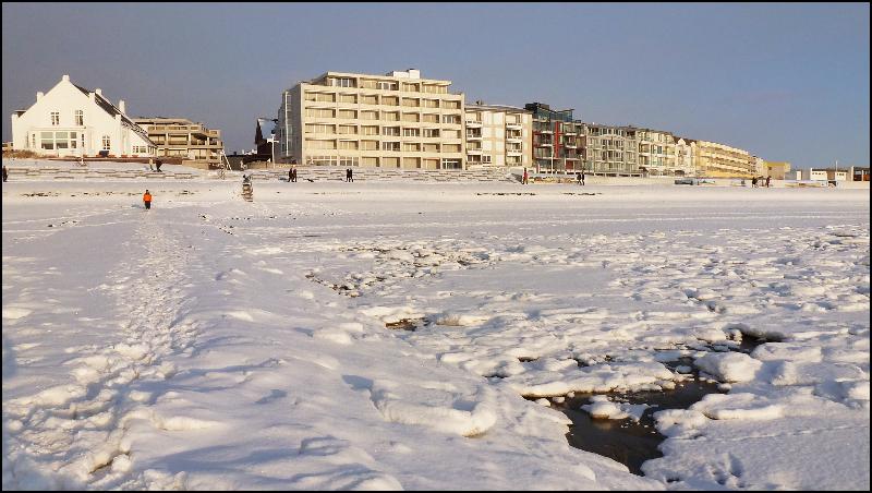 Häuser Viktoriastr. im Winter