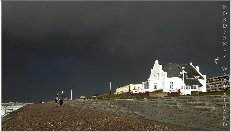 Dunkle Wolken über Norderney